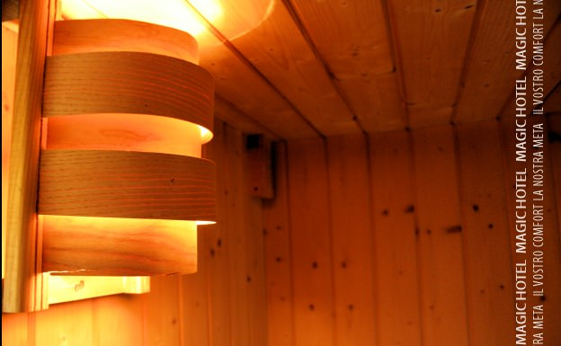 Foto lampada sauna magic hotel