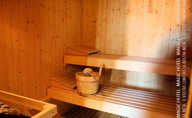 Foto interno sauna spa magic hotel