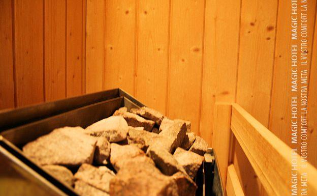Foto interno sauna centro benessere magic hotel